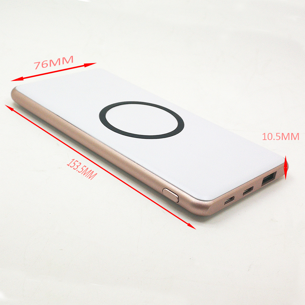new products portable QI 5000 mAh wireless charger power bank for iphone x / mobile phone charger bank