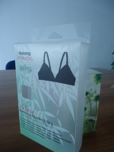 Transparent pvc plastic underwear nursing bra packaging box
