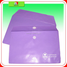 custom color soft plastic pvc document enclosed wallets