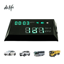 Multi-function Car Vehicle-Mounted HUD Head Up Display speeding remind with cigarette lighter Cable 2m