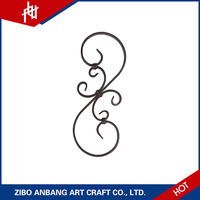 Outdoor furniture ornamental fence wrought models iron scrolls for safety main door designs
