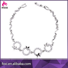 wholesale fashionable cubic zirconia tennis bracelet