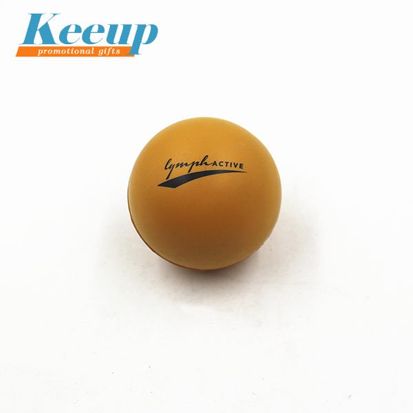 Promotional item soft toys 7cm size pu stress ball with custom logo printing