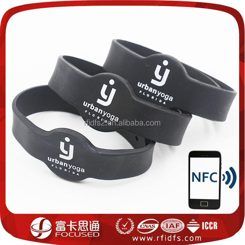 silicone nfc safety wristband alarms