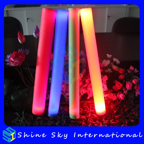 Factory original battery glow stick, party giveaways 2013 flashing foam light stick, multi-functional windmill party sticks