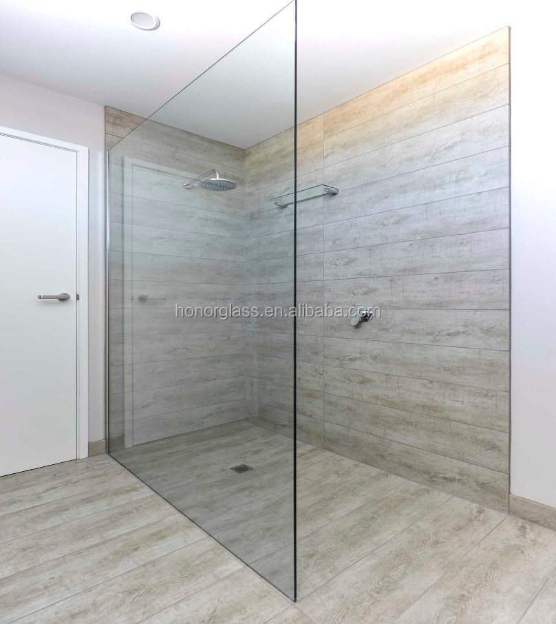 Frameless Frame Style and 6mm Glass Thickness glass partitions for shower room