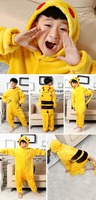 Walson 2015 Cheapest Winter animal Onesie pajamas jumpsuit kid Pikachu onesie