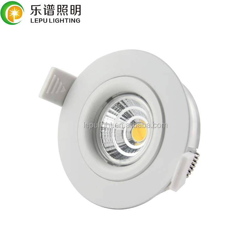 Cutout 68mm Height 34mm GYRO Led downlight 7w NEMKO IP44