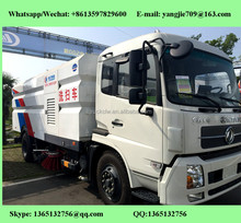 Quality assurance high pressure road washing and sweeping vehicle