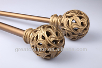 Elegant Living Room Curtain Rods Window Curtain Accessory Gold Curtain Finials
