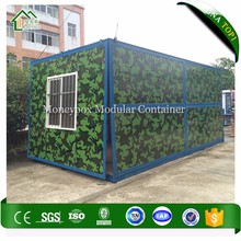 Expanded military office container/collapsable steel container office/container module house office