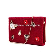 Popular nice looking lovely red christmas handbags and purses