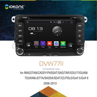 Android 4.4 3g wifi car radio stereo player with gp s bluetooth for Volkswagen Polo Golf Magotan Passat