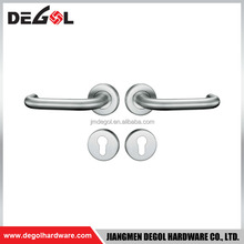 Hot sale made in china cheap modern 201 or 304 stainless steel d shape bedroom adjustable privacy lever exterior door handle