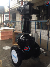 rising stem electric actuated butt weld cast steel gate valve drawing