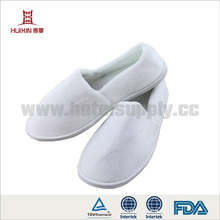 JET-SL-040 Terry velour close toe spa hotel slippers for women
