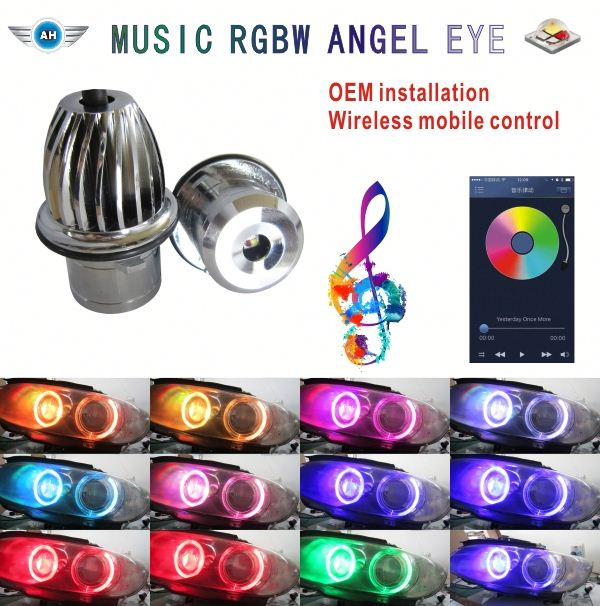 Christmas sales! SUPER WHITE 120W H8 LED HALO LIGHT BULBS ANGEL EYE FOR B_M_W E60 E87 E92 E61