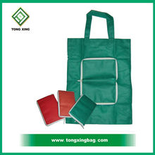 Hot Selling Promotional Non Woven Foldable Zipper Tote Bag