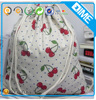 Unisex Backpack Geometric Pattern Leisure Travel Drawstring Organic Cotton Bag