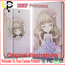 Original illustration princess drawing universal tablet case for ipad