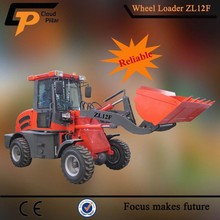 High Efficiency Small Loader zl12f with V Type Snow Blade