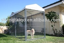 3mx1.5mx1.8m, collapsible metal dog cage with cover of A-frame top