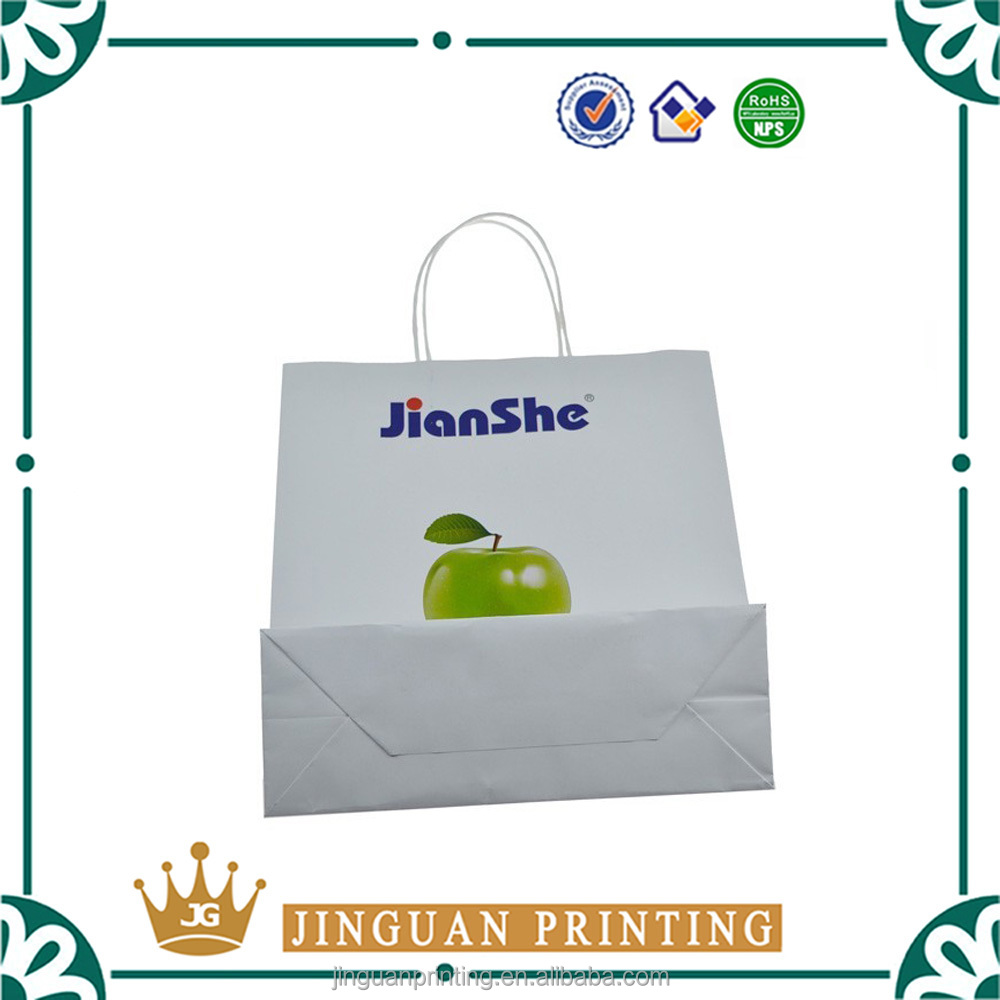 Wholesale custom printing cosmetic shopping gift make up packaging paper bag