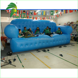 Outdoor Giant Advertising Inflatable Sofa / Inflatable PVC Blue Sofa Product Model