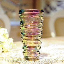 2016 popular cheap wholesale glass cylinder vases for hotels