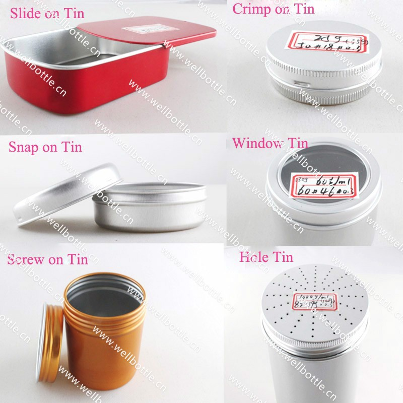 Wholesale 5g 10g 15g 20g 30g 50g 100g 150g 200g 300g 500g 750g 1000g food pomade cosmetic aluminum jar tin container AJ-888A