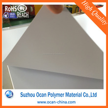 Matte White 1mm to 5mm Plastic PVC Sheets for Decoration Board