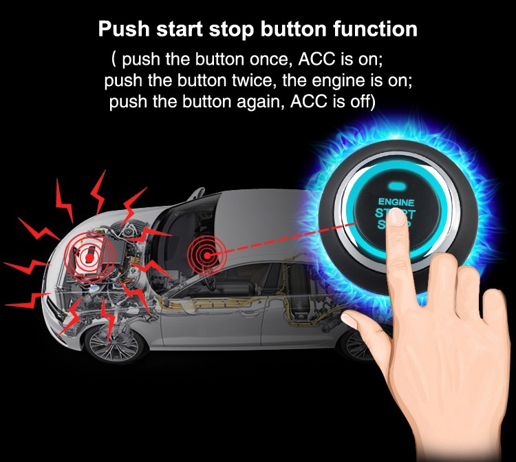 Top quality smart button start PKE car alarm system CF7003