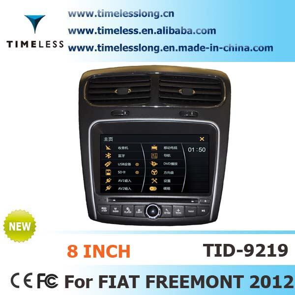 2 Din Car DVD Player for FIAT FREEMONT 2012 with built-in GPS, BT,steering wheel (TID-9219)