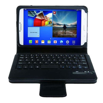 Removable Bluetooth Keyboard Stand Leather Case For Samsung Galaxy Tab 3 8.0 inch T310