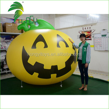 Yellow inflatable Pumpkin Model Balloon For Halloween Decorations