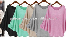 Summer women long tops walson Long sleeve batwing women blouse top women plain blouse lady blouse & top Quality Assured