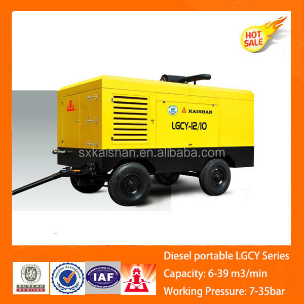 High performance LGCY-22/13 750cfm, 13baR diesel engine driven mini air compresso