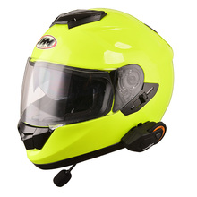 DOT, ECE approved Double visors casco full face motorcycle helmet with intercom bluetooth