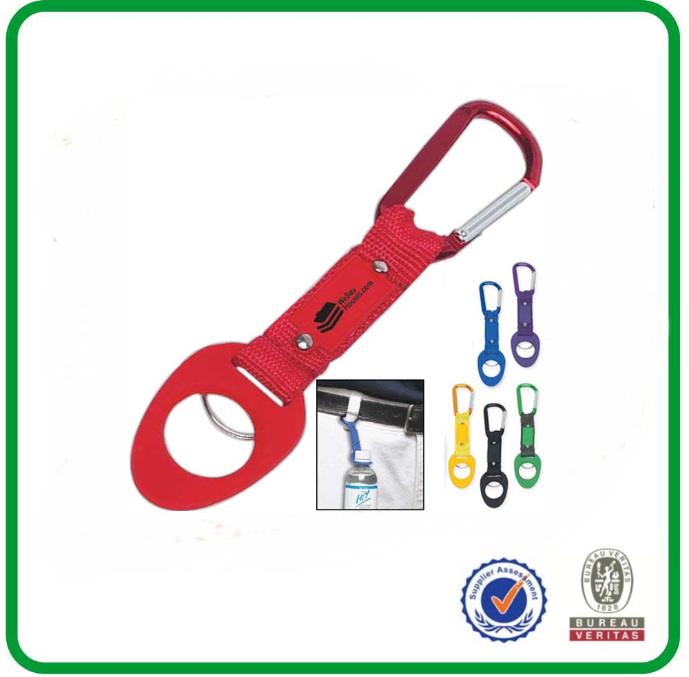 Carabiner bottle holder with high quality lanyard