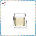 High Quality borosilicate double wall couple cold glass cup