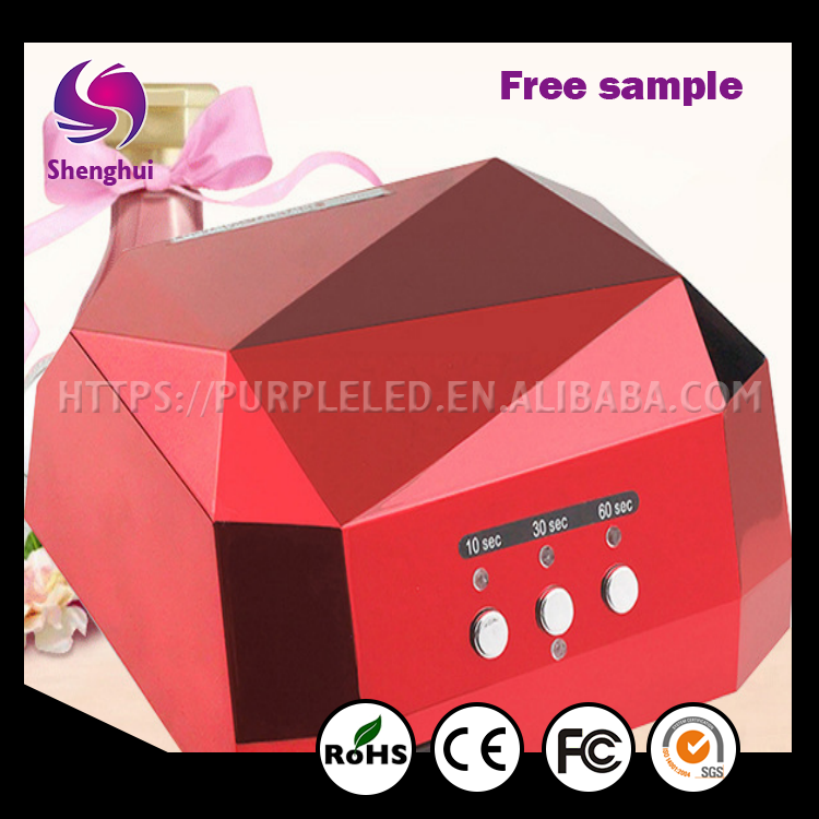 Shenghui Better quality diamond 36w uv led nail lamp