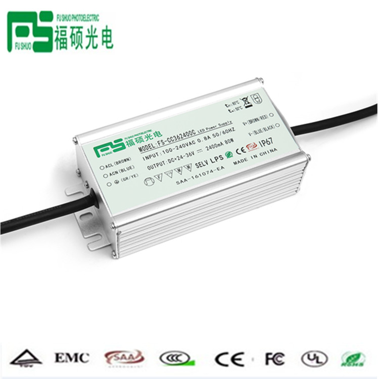 Wholesale constant current dimmable led driver 80w 24-36v waterproof ip67 electronic
