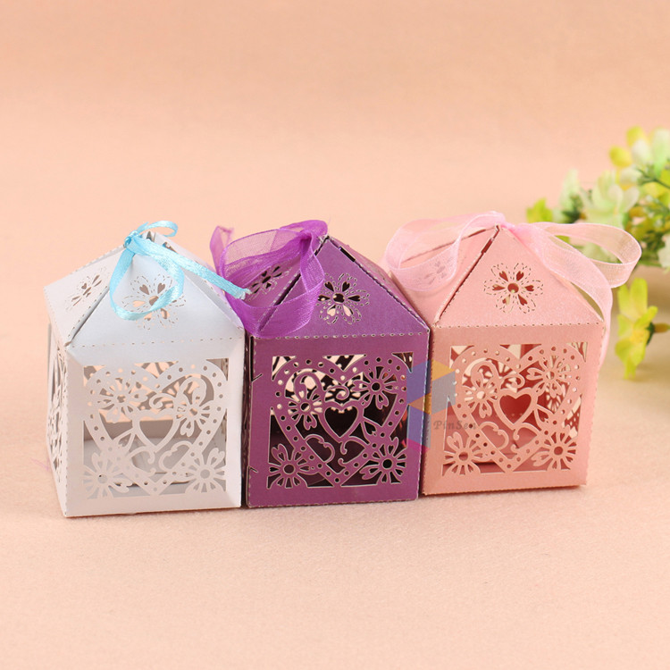 ribbon candy packaging paper gift wedding giveaway boxes