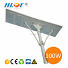 Helist new 100w street lamp solar motion sensor light with Andriod App