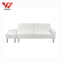 contemporary furniture white foldable leather sleeper sofa bed
