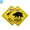Bears active in ths area danger metal board animal warning sign outdoor