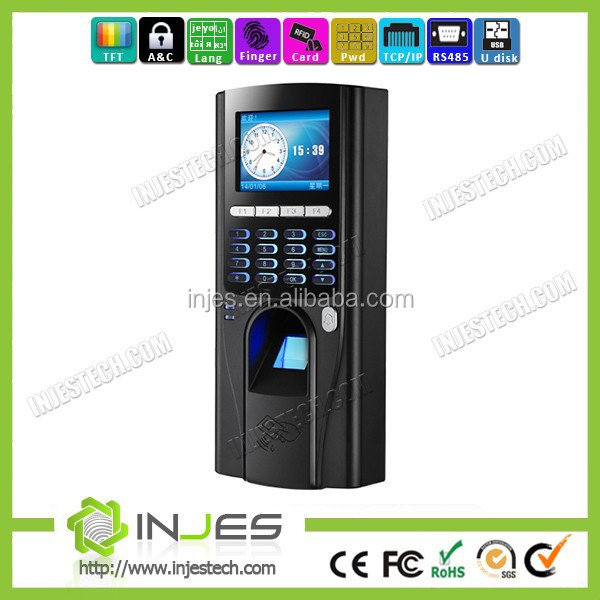 INJES anti-password function TCP IP RS485 USB fingerprint access control terminal with web server