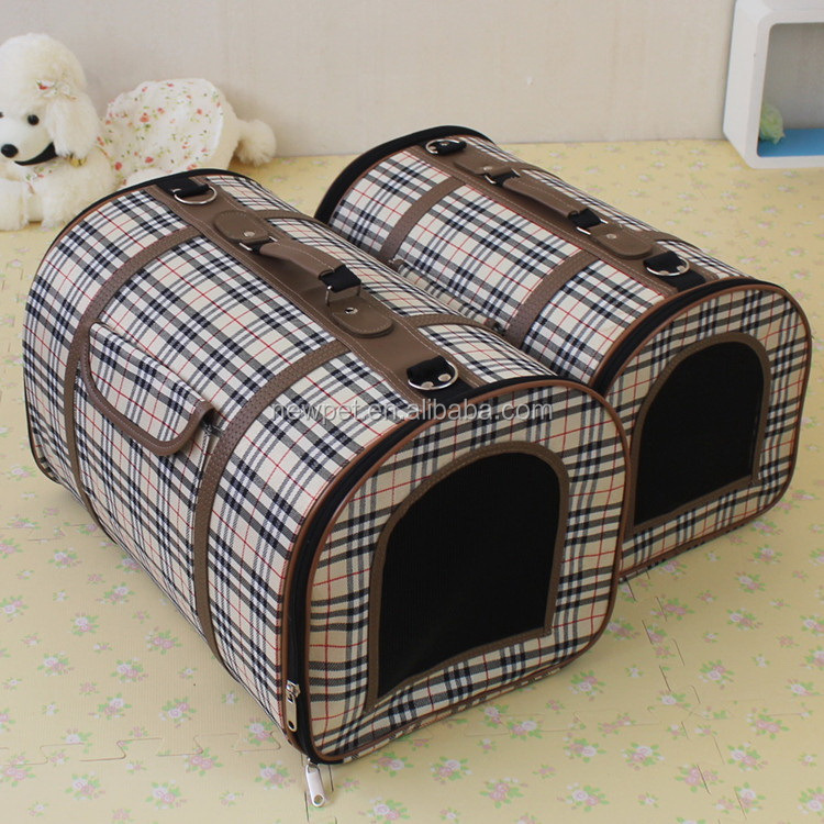 In many styles new coming luxury grid pet dog backpack original pet bag