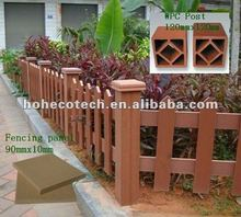 temporary wood plastic composite rail fence