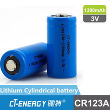 3V Lithium rechargeable cylindrical battery CR123A, CR2